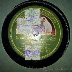 Gramófonos y gramolas: DISCO DE GRAMOFONO: ELCASERIO(ROMERO, F. SHAW Y GURIDI),ROMANZA DE JOSE -MIGUELY LOS VERSOLARIS.. Lote 27565201