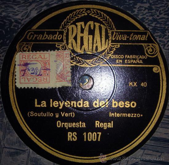 DISCO DE GRAMÓFONO:LA LEYENDA DEL BESO2.- A LAS TRES DE LA MAÑANA.(ROBLEDO) (Radios, Gramófonos, Grabadoras y Otros - Gramófonos y Gramolas)