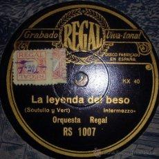 Gramófonos y gramolas: DISCO DE GRAMÓFONO:LA LEYENDA DEL BESO2.- A LAS TRES DE LA MAÑANA.(ROBLEDO). Lote 27410013