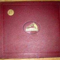 Gramófonos y gramolas: ANTIGUO ALBUM DE DISCOS DE GRAMÓFONO,CON EL SELLO DE EUTASIO VILLANUEVA(BURGOS). Lote 27274033