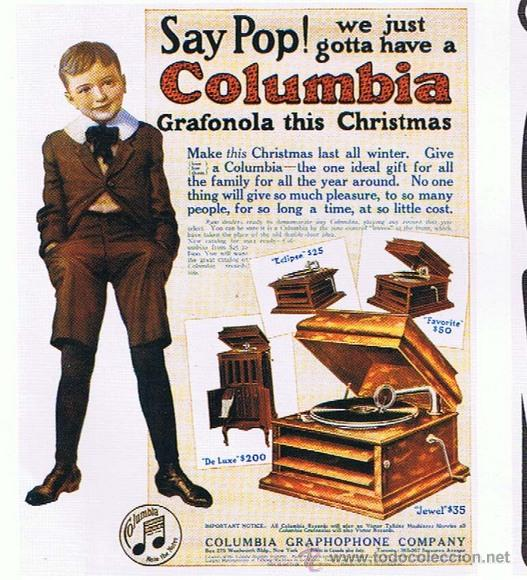 GRAFONOLA COLUMBIA DE 1914 FABRICADA EN U.S.A 'PIEZA DE COLECCION' (Radios, Gramófonos, Grabadoras y Otros - Gramófonos y Gramolas)