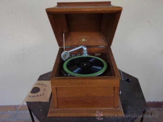 Gramófonos y gramolas: GRAFONOLA COLUMBIA DE 1914 FABRICADA EN U.S.A PIEZA DE COLECCION - Foto 2 - 21004513