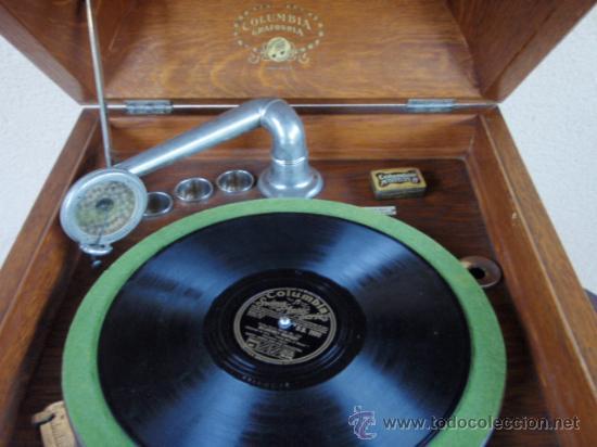 Gramófonos y gramolas: GRAFONOLA COLUMBIA DE 1914 FABRICADA EN U.S.A PIEZA DE COLECCION - Foto 4 - 21004513