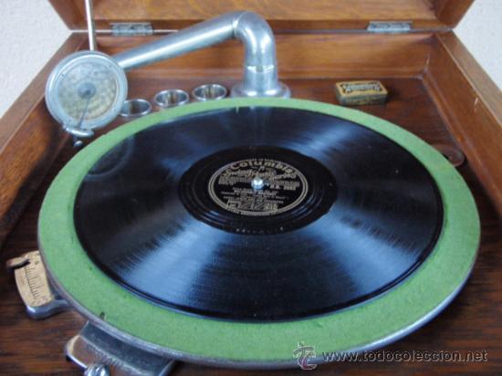 Gramófonos y gramolas: GRAFONOLA COLUMBIA DE 1914 FABRICADA EN U.S.A PIEZA DE COLECCION - Foto 6 - 21004513