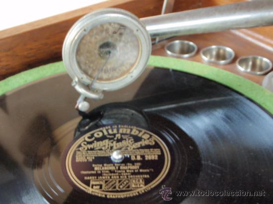 Gramófonos y gramolas: GRAFONOLA COLUMBIA DE 1914 FABRICADA EN U.S.A PIEZA DE COLECCION - Foto 12 - 21004513