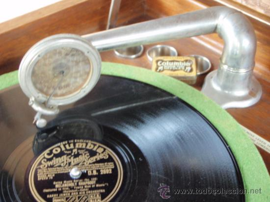 Gramófonos y gramolas: GRAFONOLA COLUMBIA DE 1914 FABRICADA EN U.S.A PIEZA DE COLECCION - Foto 13 - 21004513