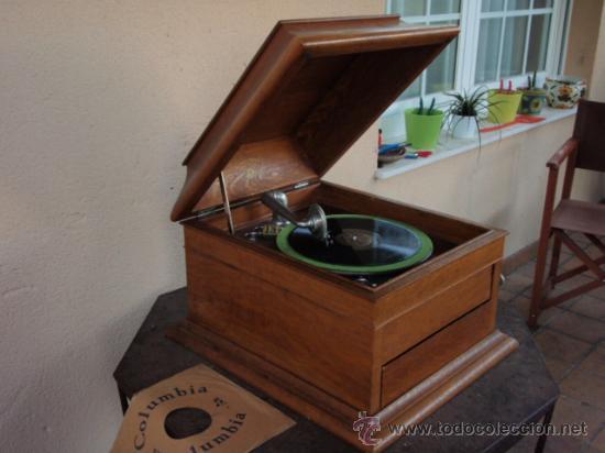 Gramófonos y gramolas: GRAFONOLA COLUMBIA DE 1914 FABRICADA EN U.S.A PIEZA DE COLECCION - Foto 15 - 21004513