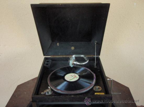 Gramófonos y gramolas: GRAMOLA DE SOBREMESA MUSIKAFFAR DE STOCKHOLM DE LOS AÑOS 20 - Foto 5 - 21005113