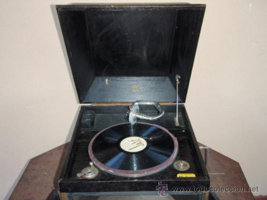 Gramófonos y gramolas: GRAMOLA DE SOBREMESA MUSIKAFFAR DE STOCKHOLM DE LOS AÑOS 20 - Foto 8 - 21005113