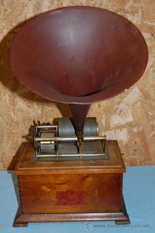 GRAMÓFONO FONÓGRAFO EMBLEMA EL GALLO (Radios, Gramófonos, Grabadoras y Otros - Gramófonos y Gramolas)