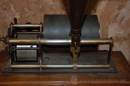 Gramófonos y gramolas: GRAMÓFONO FONÓGRAFO EMBLEMA EL GALLO - Foto 3 - 35025160