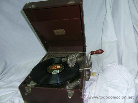 GRAMOFONO MALETIN -PORTATIL- (Radios, Gramófonos, Grabadoras y Otros - Gramófonos y Gramolas)