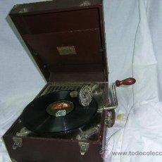 Gramófonos y gramolas: GRAMOFONO MALETIN -PORTATIL-. Lote 28354108