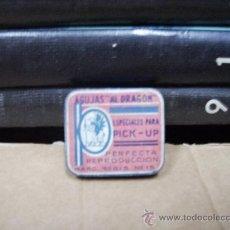 Gramófonos y gramolas: ANTIGUA CAJA METALICA CON AGUJAS DE GRAMOLA . Lote 28592922