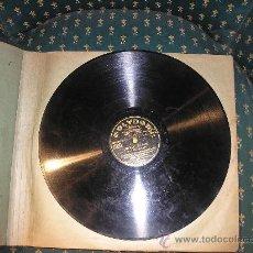 Gramófonos y gramolas: ANTIGUO ALBUM CON 12 DISCOS PIZARRA GRABADO CON LAS MEJORES ORQUESTAS DE ALEMANIA- AÑO 1920-40-. Lote 31902653