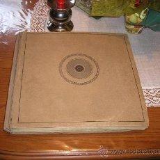 Gramófonos y gramolas: ANTIGUO ALBUM DE 12 DISCOS DE PIZARRA PARA GRAMOFONO- MEJORES MARCAS- - AÑO 1920. Lote 33805062