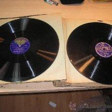 Gramófonos y gramolas: CARPETA ANTIGUA CON 15 DISCOS MUSICA CLASICA PARA GRAMOFONO AÑO 1910-20. Lote 34088877