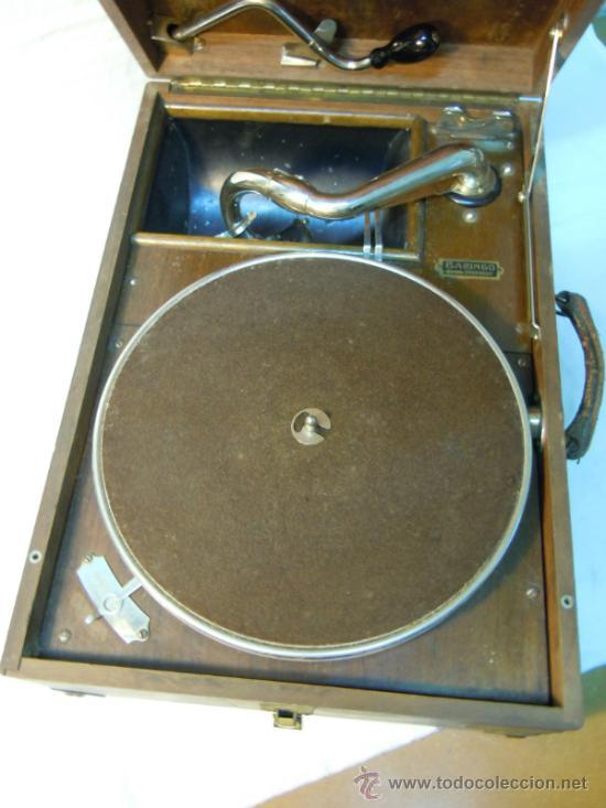 Gramófonos y gramolas: ANTIGUA GRAMOLA EN CAJA DE MADERA - Foto 5 - 36292210