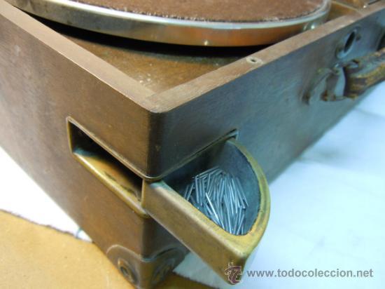 Gramófonos y gramolas: ANTIGUA GRAMOLA EN CAJA DE MADERA - Foto 2 - 36292210