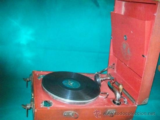 Gramófonos y gramolas: ANTIGUA GRAMOLA MALETA - PERFECTO FUNCIONAMIENTO - AEOLIAN - MADRID - 1920 - GRAMÓFONO TOCADISCOS - Foto 8 - 36384612