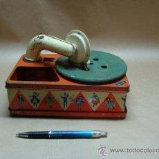 Gramófonos y gramolas: PEQUEÑO GRAMOFONO DE JUGUETE (FUNCIONANDO). Lote 36664867