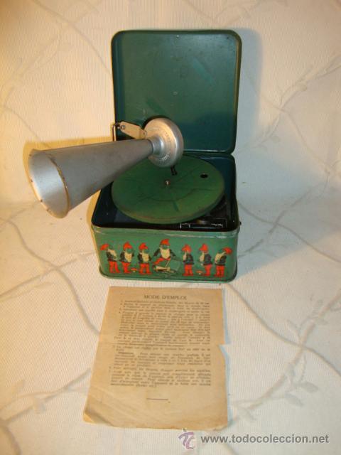 RARO GRAMOFONO GRAMOLA GRAMOPHONE PHONOGRAPHE PYGMEX ORIGINAL INFANTIL NIÑO JUGUETE 1928 FUNCIONA!!! (Radios, Gramófonos, Grabadoras y Otros - Gramófonos y Gramolas)