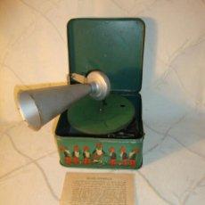 Gramófonos y gramolas: RARO GRAMOFONO GRAMOLA GRAMOPHONE PHONOGRAPHE PYGMEX ORIGINAL INFANTIL NIÑO JUGUETE 1928 FUNCIONA!!!. Lote 36697128