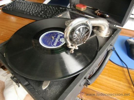 Gramófonos y gramolas: Gramofono antiguo muy bien conservado - Foto 4 - 37171367