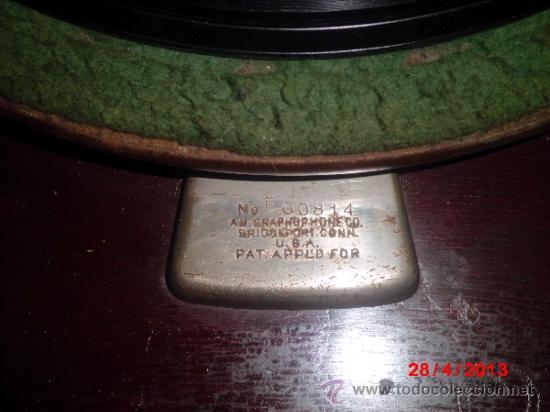 Gramófonos y gramolas: GRAMOFONO DE MUEGLE DE SOBREMESA EN MADERA DE ROBLE, FUNCIONANDO - Foto 10 - 36964432