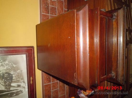 Gramófonos y gramolas: GRAMOFONO DE MUEGLE DE SOBREMESA EN MADERA DE ROBLE, FUNCIONANDO - Foto 7 - 36964432