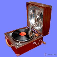 Gramófonos y gramolas: GRAMÓFONO DE MALETA. Lote 41839437