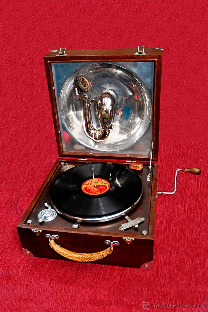 Gramófonos y gramolas: GRAMÓFONO DE MALETA - Foto 2 - 41839437