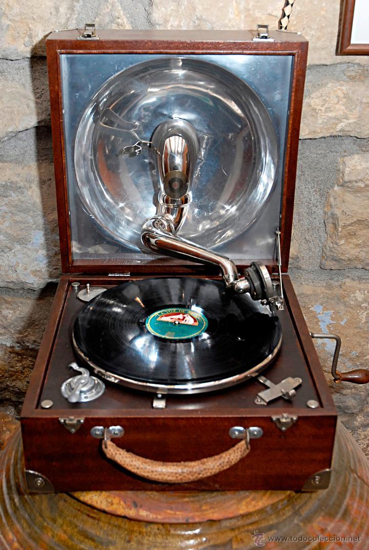Gramófonos y gramolas: GRAMÓFONO DE MALETA - Foto 3 - 41839437
