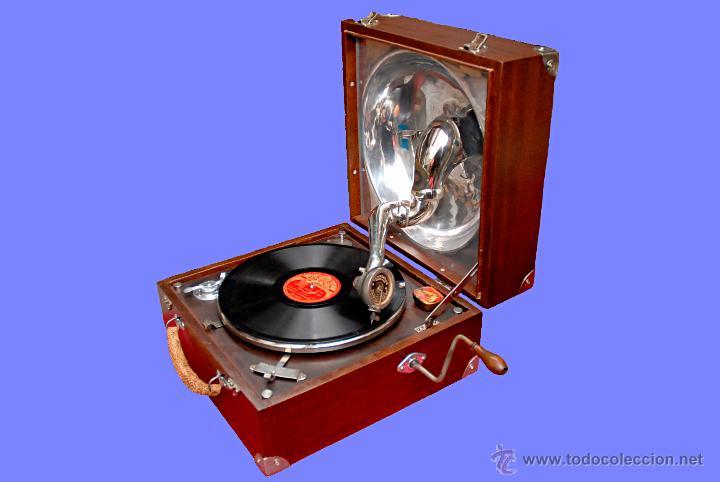 Gramófonos y gramolas: GRAMÓFONO DE MALETA - Foto 4 - 41839437