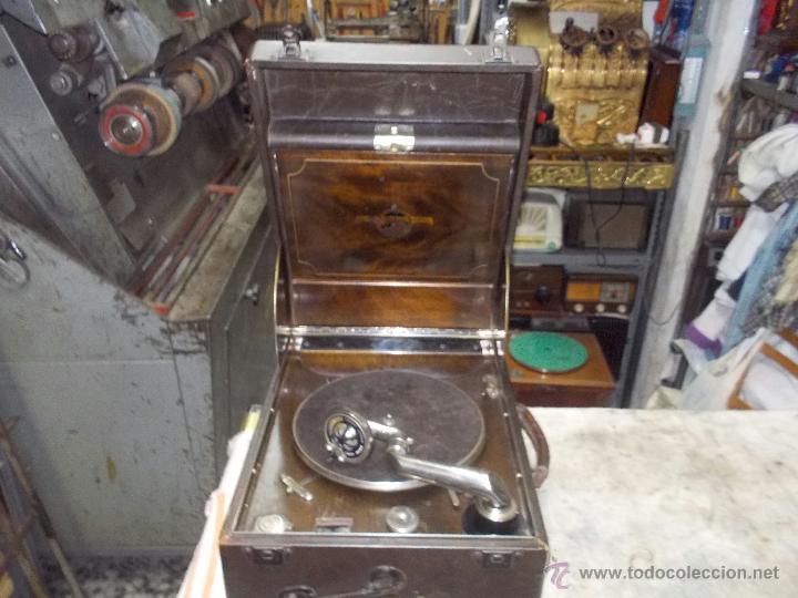 Gramófonos y gramolas: Gramola Columbia Funcionando - Foto 12 - 44338439
