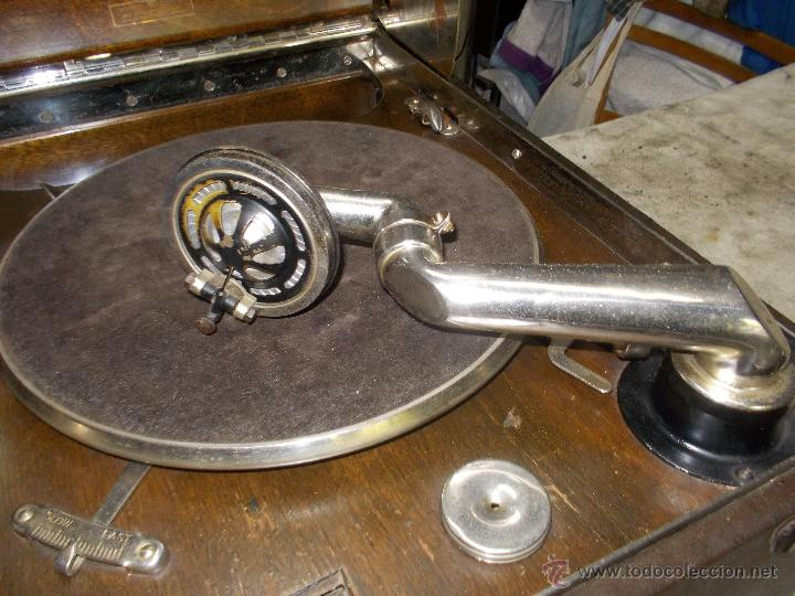 Gramófonos y gramolas: Gramola Columbia Funcionando - Foto 20 - 44338439