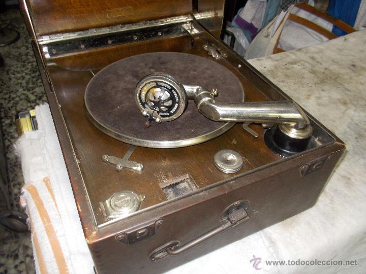 Gramófonos y gramolas: Gramola Columbia Funcionando - Foto 23 - 44338439