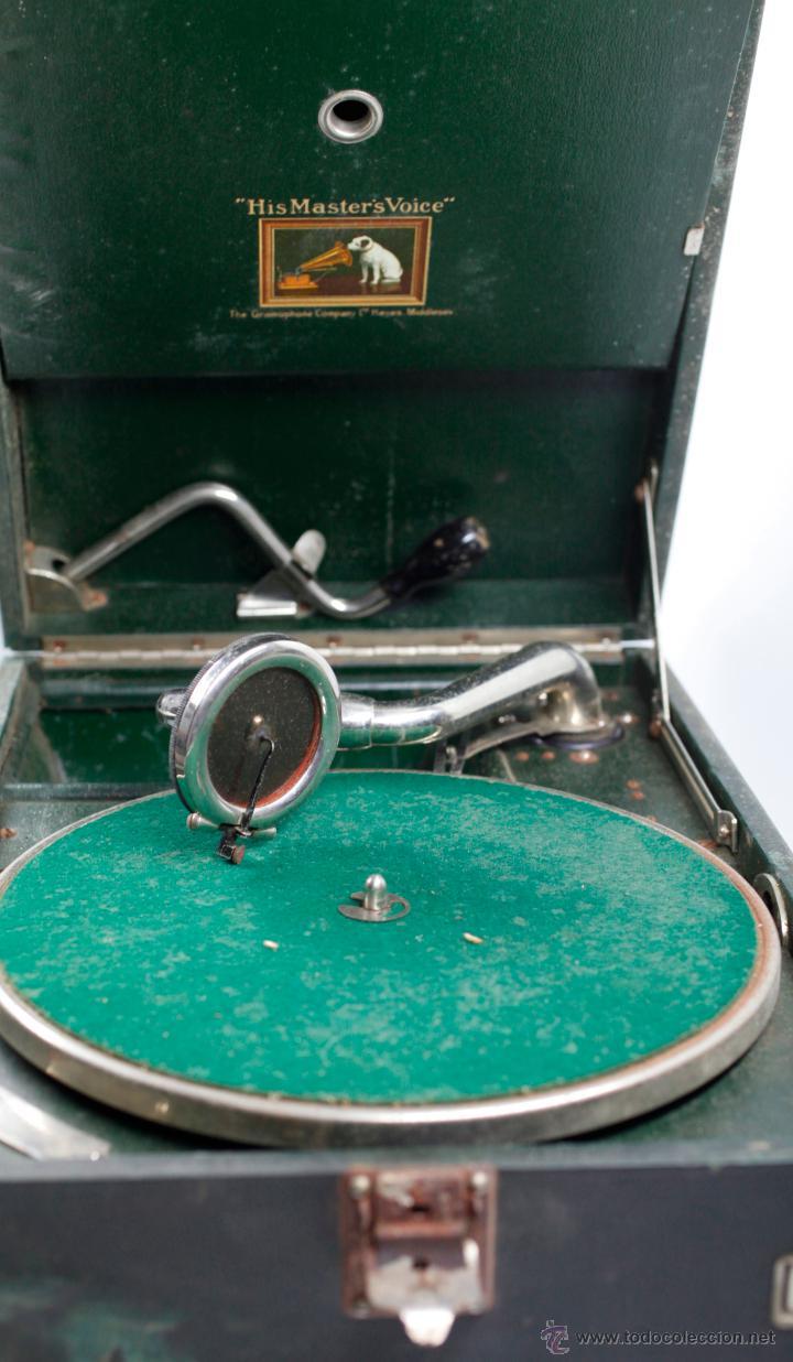 Gramófonos y gramolas: Gramola de mano 29x41 cm. ver fotos anexas - Foto 3 - 44447430