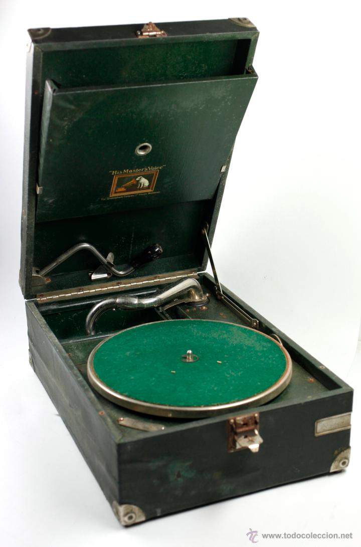 Gramófonos y gramolas: Gramola de mano 29x41 cm. ver fotos anexas - Foto 4 - 44447430
