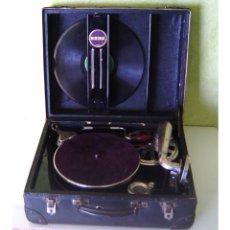 Gramófonos y gramolas: MALETA GRAMOFONO GRAMOLA DE COLECCION , MARCA NIRONA. Lote 44807421