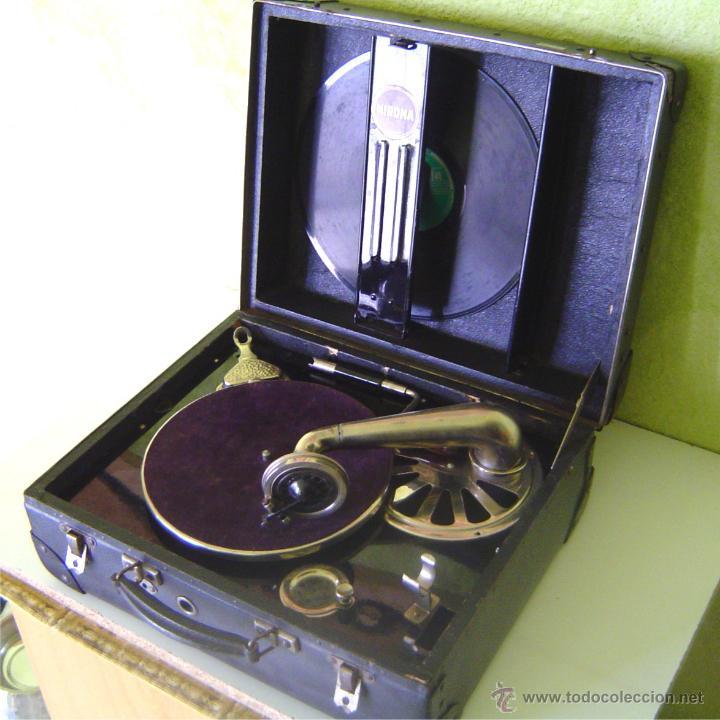 Gramófonos y gramolas: MALETA GRAMOFONO GRAMOLA DE COLECCION , MARCA NIRONA - Foto 2 - 44807421