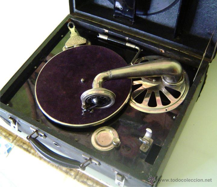 Gramófonos y gramolas: MALETA GRAMOFONO GRAMOLA DE COLECCION , MARCA NIRONA - Foto 4 - 44807421