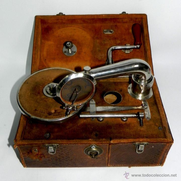 PATHE, OLOPHONE TYPE 3, GRAMOFONO PORTATIL, COMPLETO, FUNCIONANDO, TAL COMO SE VE EN LAS FOTOGRAFIAS (Radios, Gramófonos, Grabadoras y Otros - Gramófonos y Gramolas)