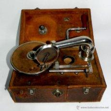 Gramófonos y gramolas: PATHE, OLOPHONE TYPE 3, GRAMOFONO PORTATIL, COMPLETO, FUNCIONANDO, TAL COMO SE VE EN LAS FOTOGRAFIAS. Lote 46367741