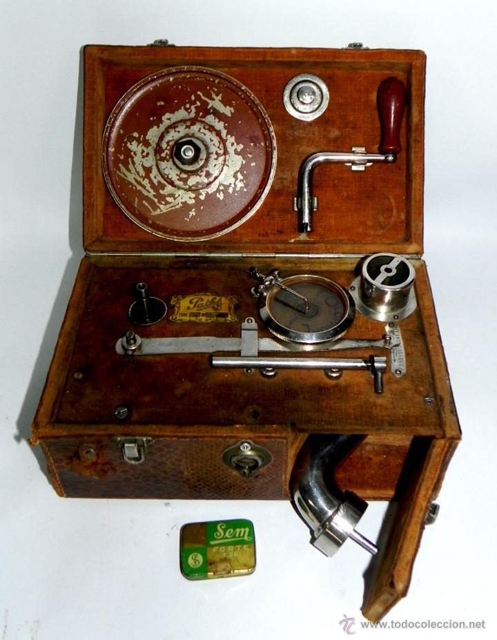 Gramófonos y gramolas: PATHE, OLOPHONE TYPE 3, GRAMOFONO PORTATIL, COMPLETO, FUNCIONANDO, TAL COMO SE VE EN LAS FOTOGRAFIAS - Foto 2 - 46367741