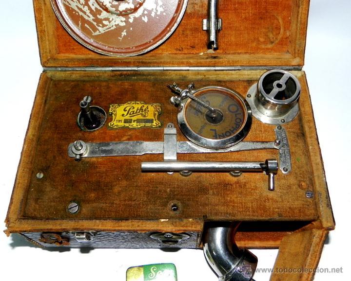 Gramófonos y gramolas: PATHE, OLOPHONE TYPE 3, GRAMOFONO PORTATIL, COMPLETO, FUNCIONANDO, TAL COMO SE VE EN LAS FOTOGRAFIAS - Foto 3 - 46367741