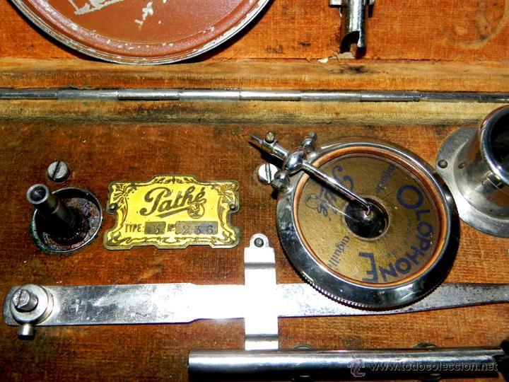 Gramófonos y gramolas: PATHE, OLOPHONE TYPE 3, GRAMOFONO PORTATIL, COMPLETO, FUNCIONANDO, TAL COMO SE VE EN LAS FOTOGRAFIAS - Foto 4 - 46367741