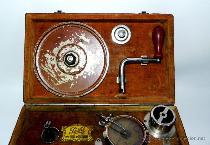 Gramófonos y gramolas: PATHE, OLOPHONE TYPE 3, GRAMOFONO PORTATIL, COMPLETO, FUNCIONANDO, TAL COMO SE VE EN LAS FOTOGRAFIAS - Foto 5 - 46367741