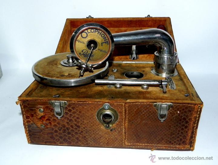 Gramófonos y gramolas: PATHE, OLOPHONE TYPE 3, GRAMOFONO PORTATIL, COMPLETO, FUNCIONANDO, TAL COMO SE VE EN LAS FOTOGRAFIAS - Foto 6 - 46367741