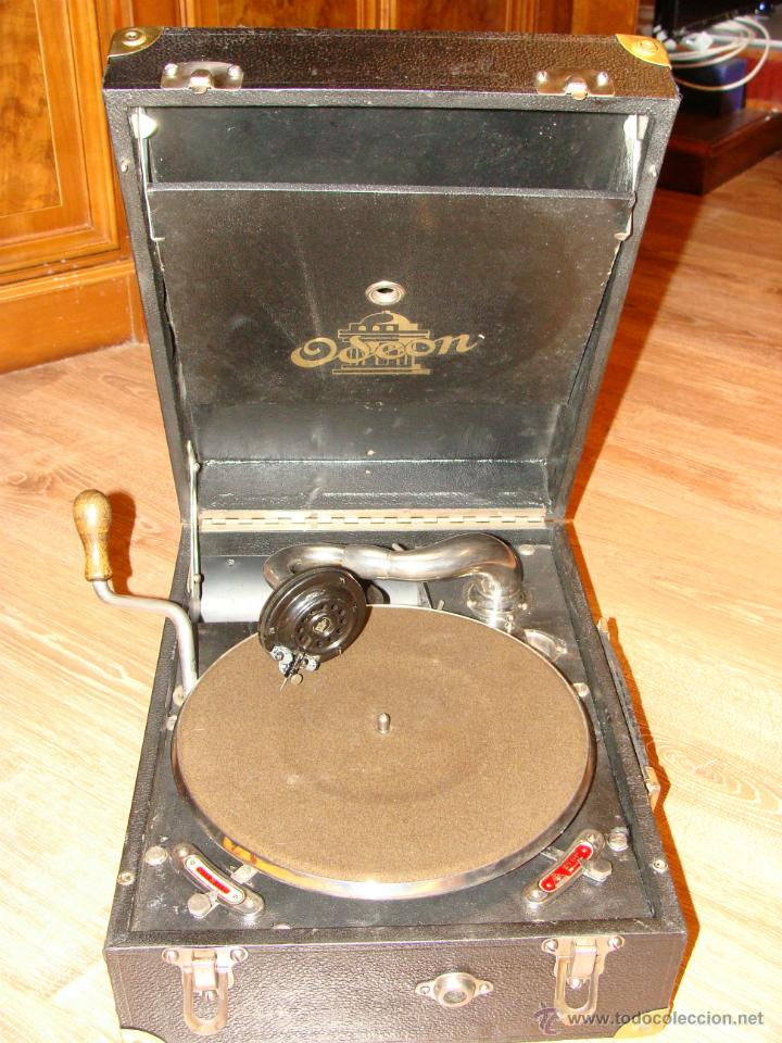 GRAMOFONO GRAMOLA ODEON AÑOS 30-40 (Radios, Gramófonos, Grabadoras y Otros - Gramófonos y Gramolas)